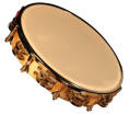 Granite Percussion - 10-inch Wood Frame Tambourine with Synthetic Head