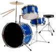 Westbury - RB 3-Piece Junior Drum Kit with Cymbals, Hardware & Throne - Blue