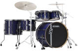 Tama - Hyper-Drive Duo 5-Piece Shell Pack (10,12,16,22,Snare) - Satin Blue Vertical Stripe