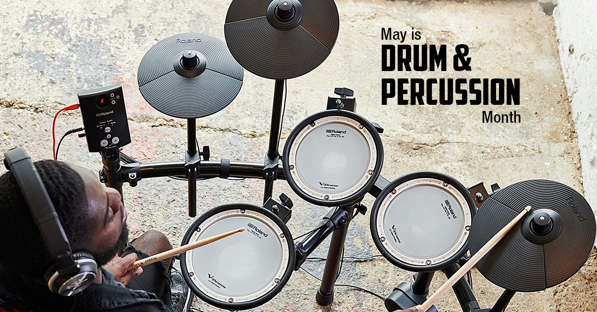 may is drum and percussion month all locations. Black Bedroom Furniture Sets. Home Design Ideas
